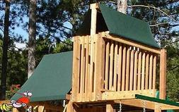 CUSTOM SIZE PLAYSET CANOPY/TARP ~GREEN, up to 13FT LG - Outd