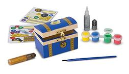 Melissa & Doug Decorate-Your-Own Wooden Pirate Chest Craft K
