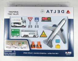 Delta Airlines 12 Piece Playset Aviation - DIECAST METAL WIT
