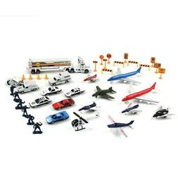 Deluxe 50pc Airport City Rescue Micro Wheels Kids Diecast To