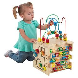 Deluxe Activity Cube w/ Letters Beads Wooden Toy Girl/Boy Ch