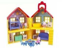Peppa Pig Deluxe House Playset Over 15 Play Pieces Gift New