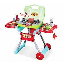 Deluxe Kitchen BBQ Grill Pretend Cooking Play Set For Kids 3
