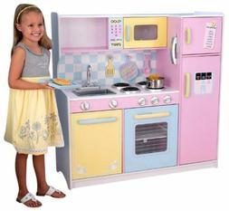 New Deluxe KidKraft Large Pastel Pink Wooden Children Kitche