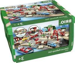 Deluxe Railway Set, 87 Pieces - BRIO Free Shipping!