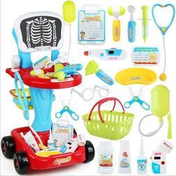 Kids Toddler Toy Medical Kit Doctor Pretend Play Set Girl De