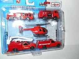 Die-cast 5-PC PLAY Set/Fire Department by Maisto