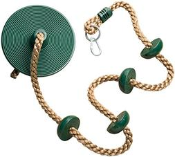 Jungle Gym Kingdom Climbing Rope with Platforms and Disc Swi