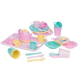 Dishes Wishes Dinnerware Set 34 piece Kid Dishes and Utensil