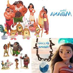 Disney Movie Moana Action Figure Dolls Princess Set Toy PVC