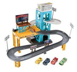 Disney Pixar Cars 3 Piston Cup Motorized Garage Playset Kids