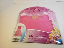 Disney Princess Aurora Pink Apron Dress Up Play Set Spatula