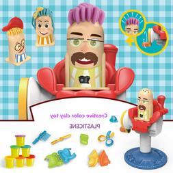 DIY Funny Dough Hairdressing Play Craft Gift Set Children Gi