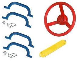 DIY PLAYGROUND PACK Belt Swing Set Steering Wheel Handles Ou