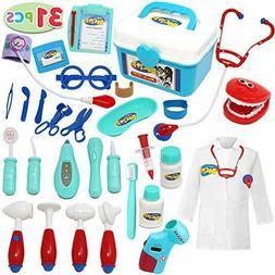 Joyin Toy Doctor Kit; 31 Pieces Pretend-n-Play Dentist Medic