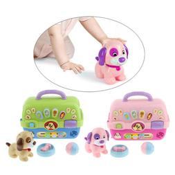 Dog Pet Carrier Learning Electronic Toy Play Set for Kids 18