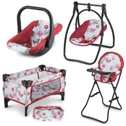 doll carrier playset pretend play for 3
