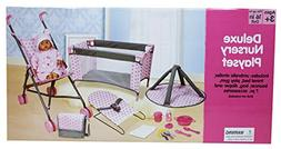 Lissi 5 Piece Doll Deluxe Nursery Play Set with 8 Accessorie