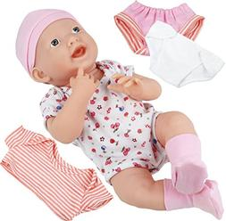 Click N' Play Newborn Baby Doll Clothes and Diaper Changing