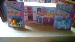 Gloria Doll House Furniture Refrigerator play set bundle wit