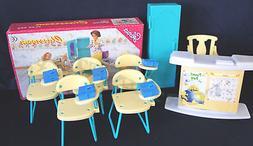 GLORIA Dollhouse Furniture Size Classroom PlaySet   NEW Clas