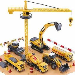 Engineering Construction Vehicles and Construction Site Set,