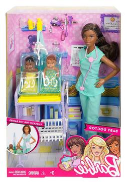🚛Fast Shipping! Barbie Careers Baby Doctor Doll Playset D