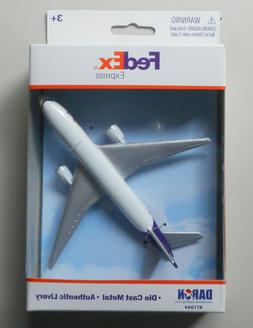 "FEDEX EXPRESS MINIATURE SINGLE PLANE AIRPLANE 5"" WINGSPAN DA"