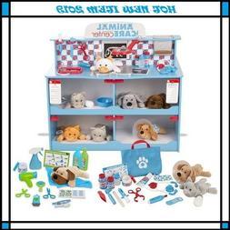 Melissa & Doug Feeding and Grooming Pet Care Play Set
