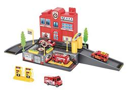 Liberty Imports Fire Station Parking Garage Toy Playset with