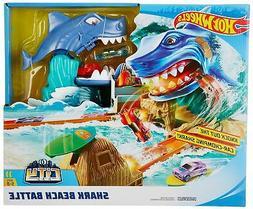 Hot Wheels FNB21 City Shark Beach Battle Play Set, Multicolo