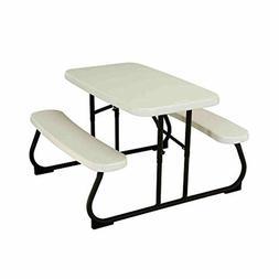 Folding Table Children's Plastic Garden Picnic Bench Set Kid