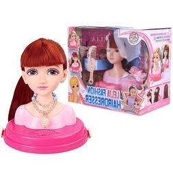 <font><b>Hair</b></font> Styling Kids Makeup Toy Doll Realis