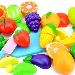 Food Play Set Cut Fruit Vegetable Kids Toddler Toy & Gifts P