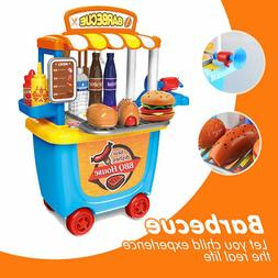 Food Pretend Play Sets - BBQ Paly set for Kids Game Barbecue