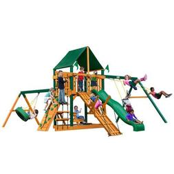 Gorilla Playsets Frontier Supreme Wood Swing Set with Canvas