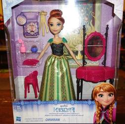 Disney Frozen Anna and Coronation Vanity Play Set with Doll