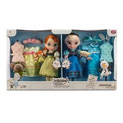 Disney Frozen Anna and Elsa Animators Collection Dolls Delux