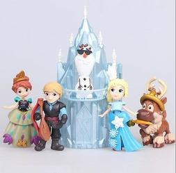 Frozen Elsa Anna Olaf Playset 6 Figure Cake Topper *FAST SHI