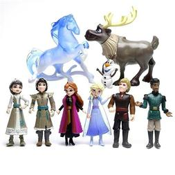 "Disney Frozen 2 II 4"" Deluxe Figure Set - 9-Piece Playset, B"