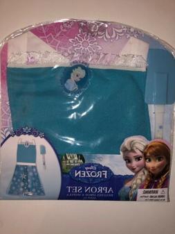 Disney Frozen Princess Elsa Blue Apron Dress Up Play Set wit