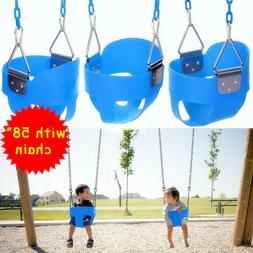 Full Bucket Swing Set Toddler Baby Seat Playground Outdoors