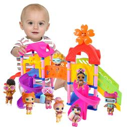 Funny Princess Doll Park House Game Big Slide Playset Gift F