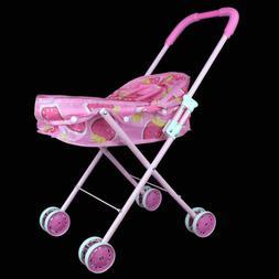 Funny Toddler Kid Connection Baby Doll Stroller Hood Basket