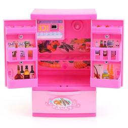 Furniture Play Set Mini Barbie Doll Dream House Kitchen Refr