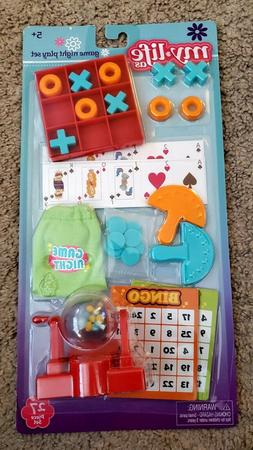 My Life Game Night Play Set Accessories for Dolls Bingo Tic-