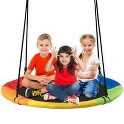 Giant 40'' Flying Saucer Tree Swing Indoor Outdoor Play