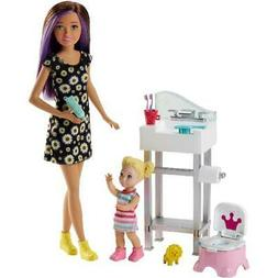 Girl Barbie Doll  Skipper Babysitters Inc. Potty Training an