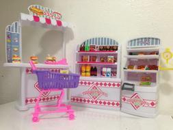 Gloria Dollhouse Furniture, Supermarket Shopping Cart Veggie