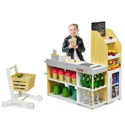 grocery store playset pretend play supermarket shopping